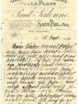 Brief Mathilde Hofer an Karl Hofer / Mathilde Hofer's letter to Karl Hofer